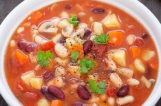 Mixed bean and root vegetable stew