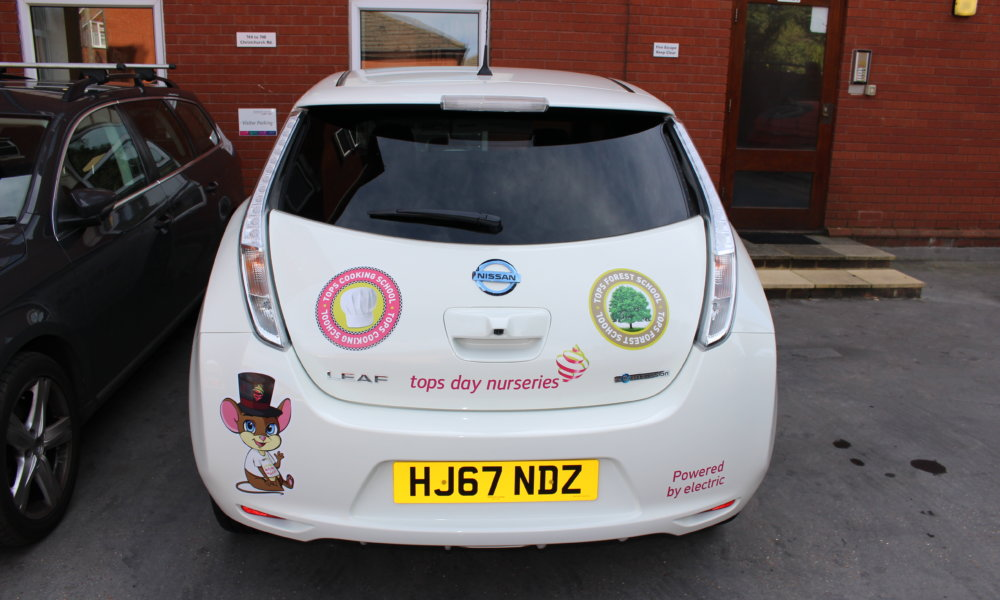 New Nissan Leaf Salisbury >> Tops Day Nurseries goes greener with electric cars - Tops Day Nurseries